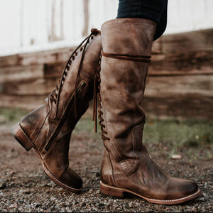 Freebird by Steven Stag Lace Boots Distressed Brn